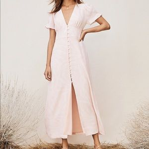 TVF for Diane Von Furstenberg Pink Chiffon Dress